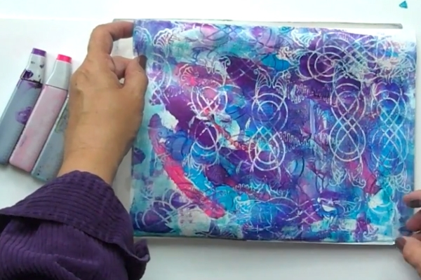 Using Copic Alcohol Inks with Gel Press