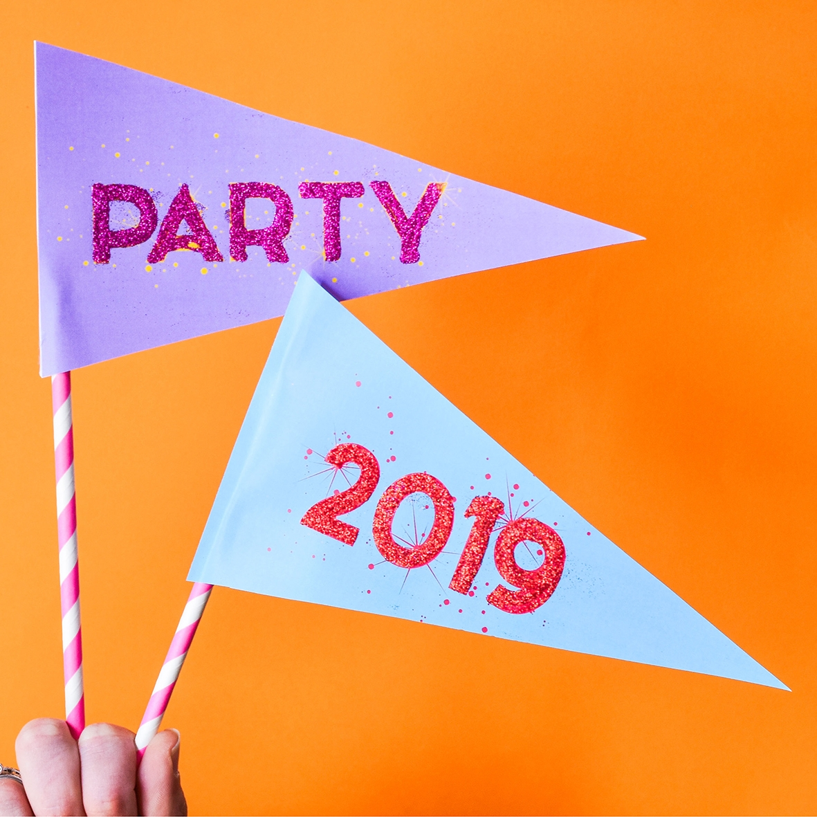 DIY Party Flags