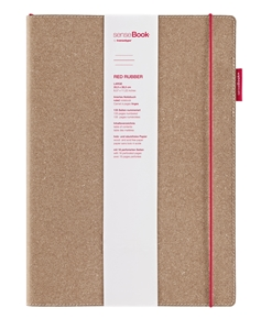 Picture of SenseBook Red Rubber A4 (large) Ruled