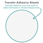 Picture of X-Press It Transfer Adhesive Sheets A5 5 sheets